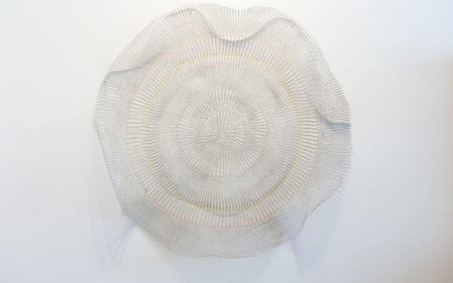 art sculpture made of copper wire by the artist Indira urrutia